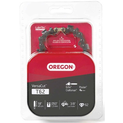 Oregon VersaCut T62 18 In. 3/8 In. Low Profile Chainsaw Chain