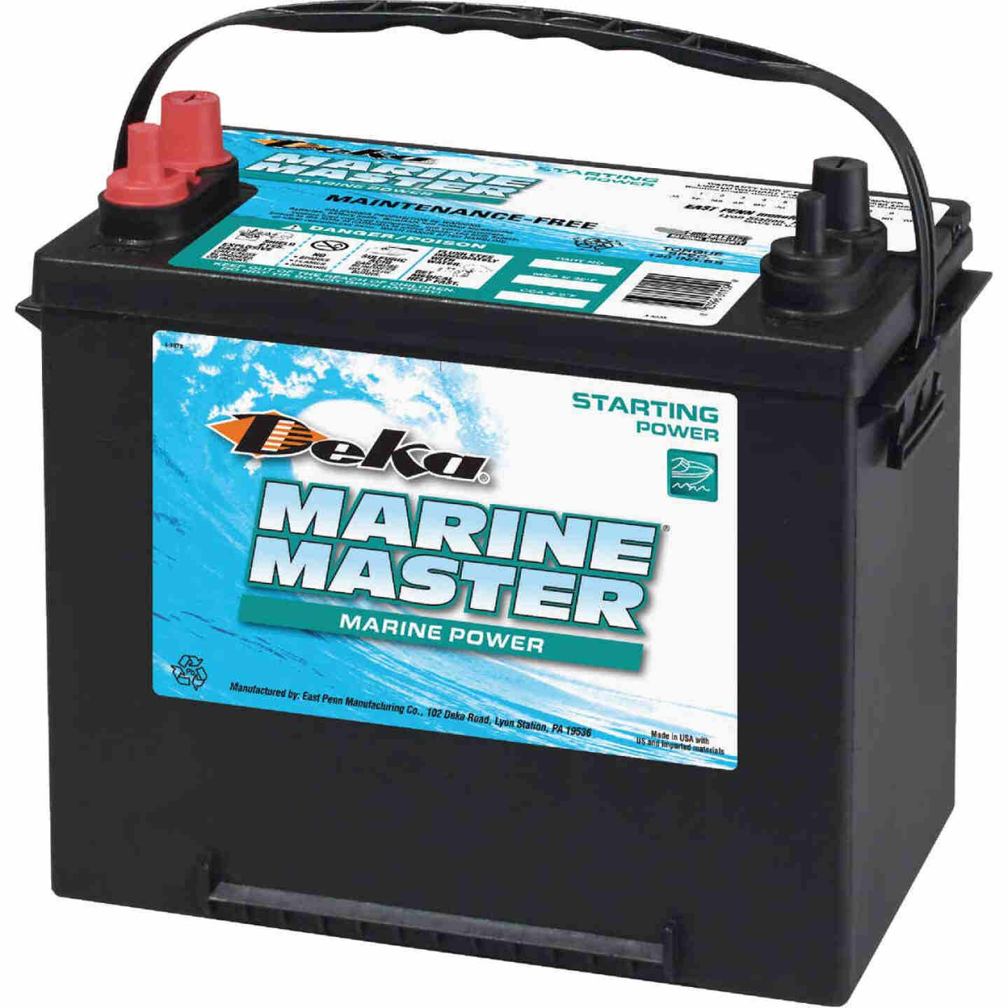 Deka Marine Master 12-Volt 550 CCA Starting Marine/RV Battery, Left Front Positive Terminal Image 1