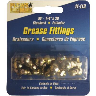 "Plews Lubrimatic 90 Deg 1/4""-28 Grease Fitting"