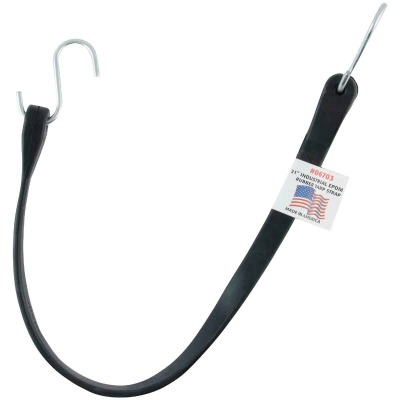Erickson 24 In. Hook-to-Hook Black Industrial EDPM Rubber Tarp Strap