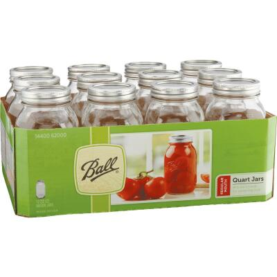 Ball 1 Quart Regular Mouth Mason Canning Jar (12-Count)