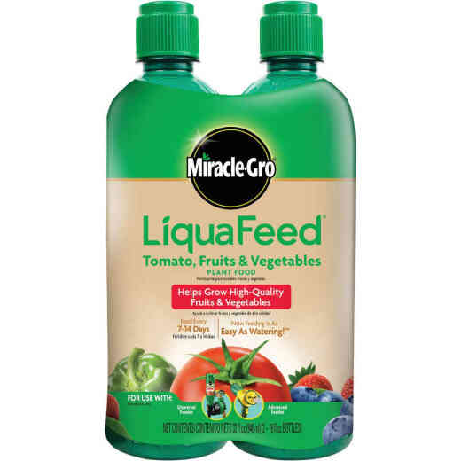 Miracle-Gro LiquaFeed 16 Oz. 9-4-9 Ready To Use Liquid Tomato, Fruits, & Vegetable Food (2-Pack)