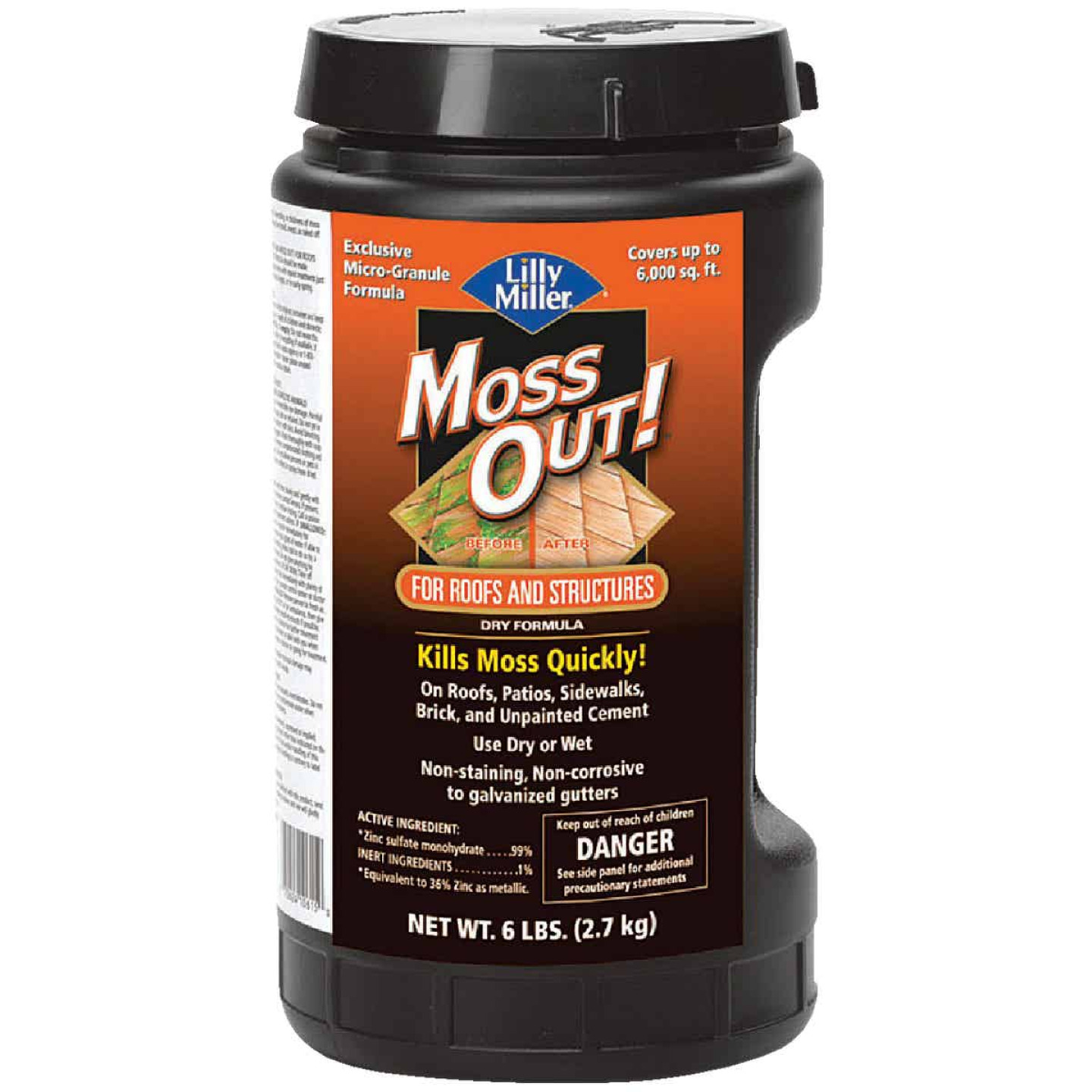 Lilly Miller MOSS OUT! 6 Lb. Ready To Use Granules Moss & Algae Killer Image 1