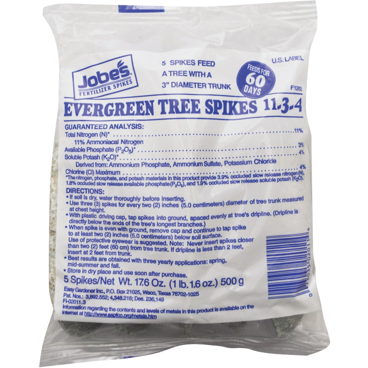 Jobe's 11-3-4 Evergreen Tree Stakes (5-Pack) Image 1