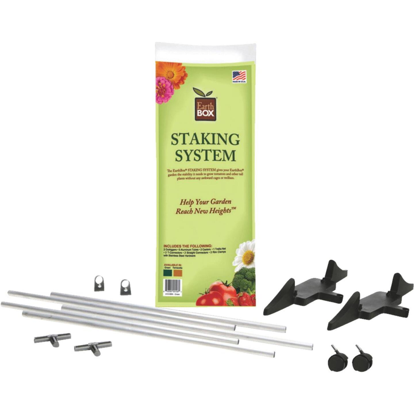 EarthBOX 60 In. Green Aluminum Plant Stake Staking System Image 1