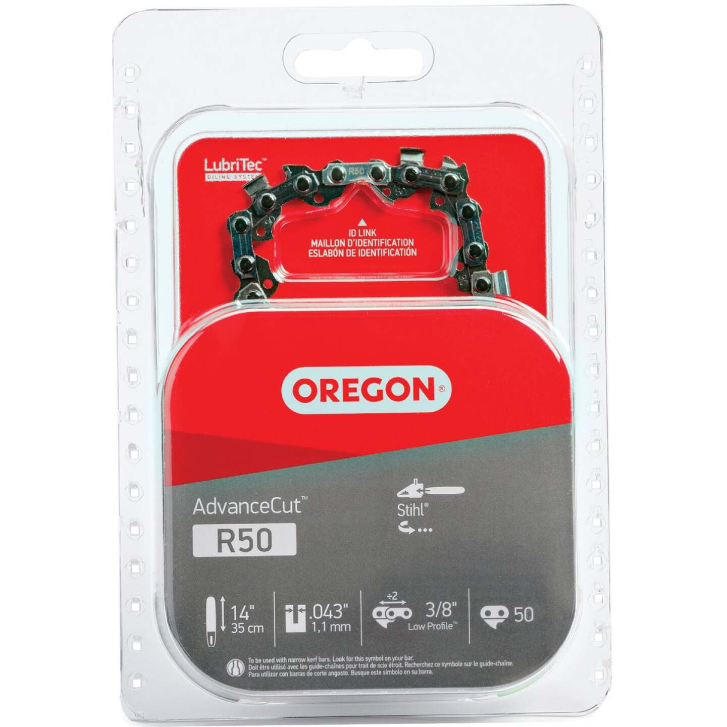 Oregon AdvanceCut LubriTec R50 14 In. 3/8 In. Low Profile 50 Link Chainsaw Chain Image 1
