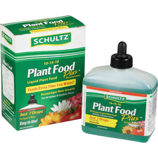 Schultz 8 Oz. Concentrate 10-15-10 Liquid Plant Food Plus