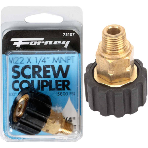 Forney M22F x 1/4 In. Male Screw Pressure Washer Coupling