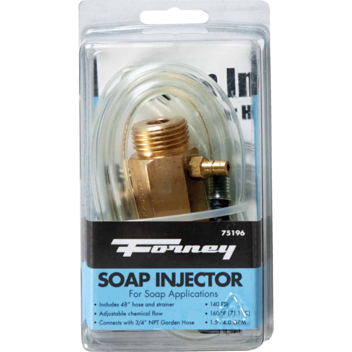 Forney Pressure Washer Detergent Injector with 48 In. Hose Image 2
