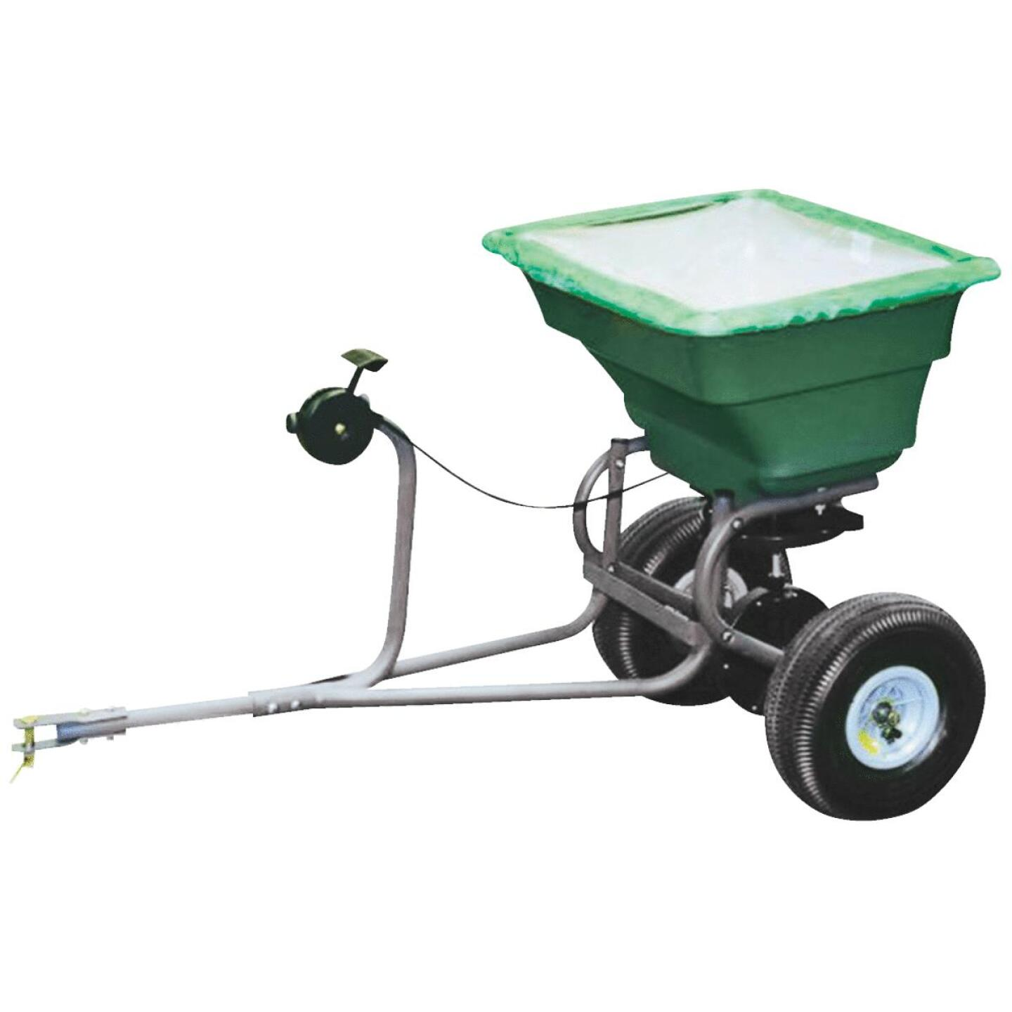 Precision 75 Lb. Self-Lubricationg Tow Broadcast Fertilizer Spreader Image 1