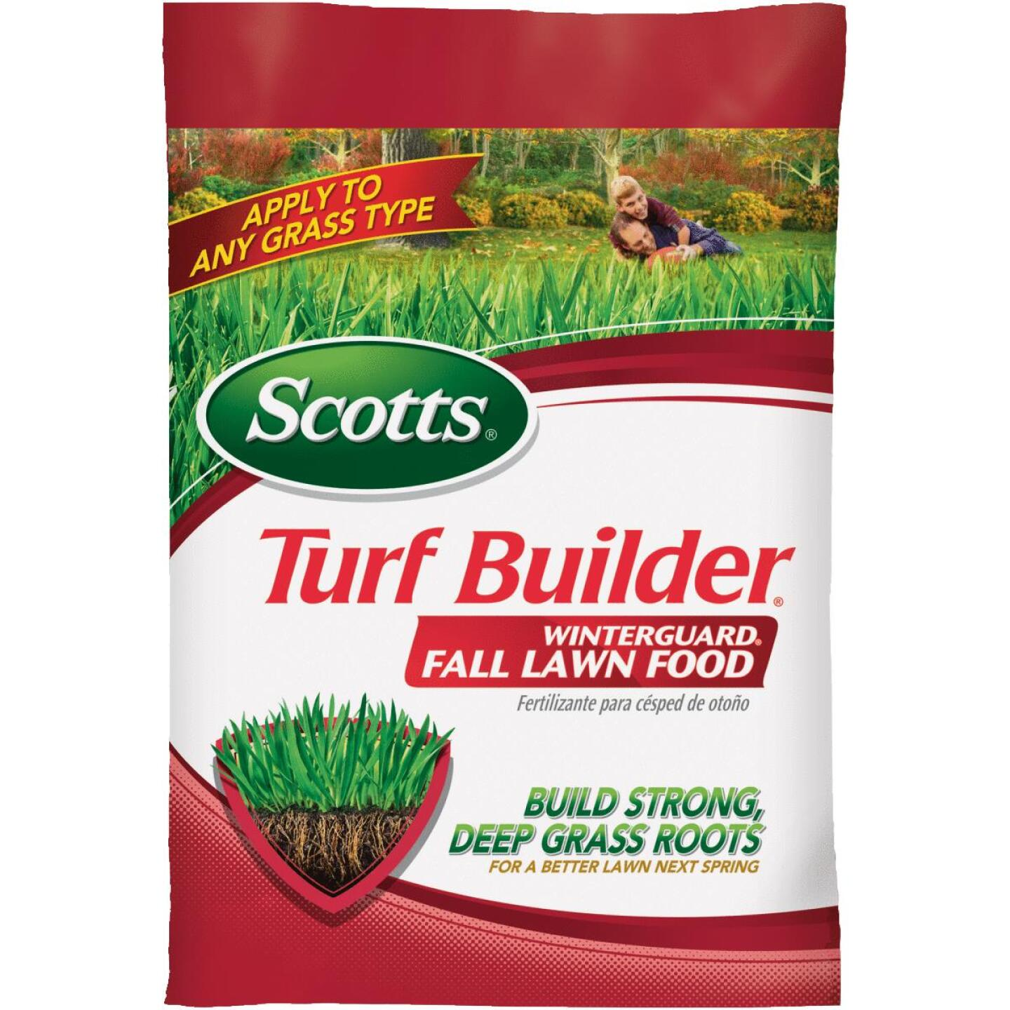 Scotts Turf Builder WinterGuard 37.5 Lb. 15,000 Sq. Ft. 32-0-10 Winterizer Fall Fertilizer Image 1