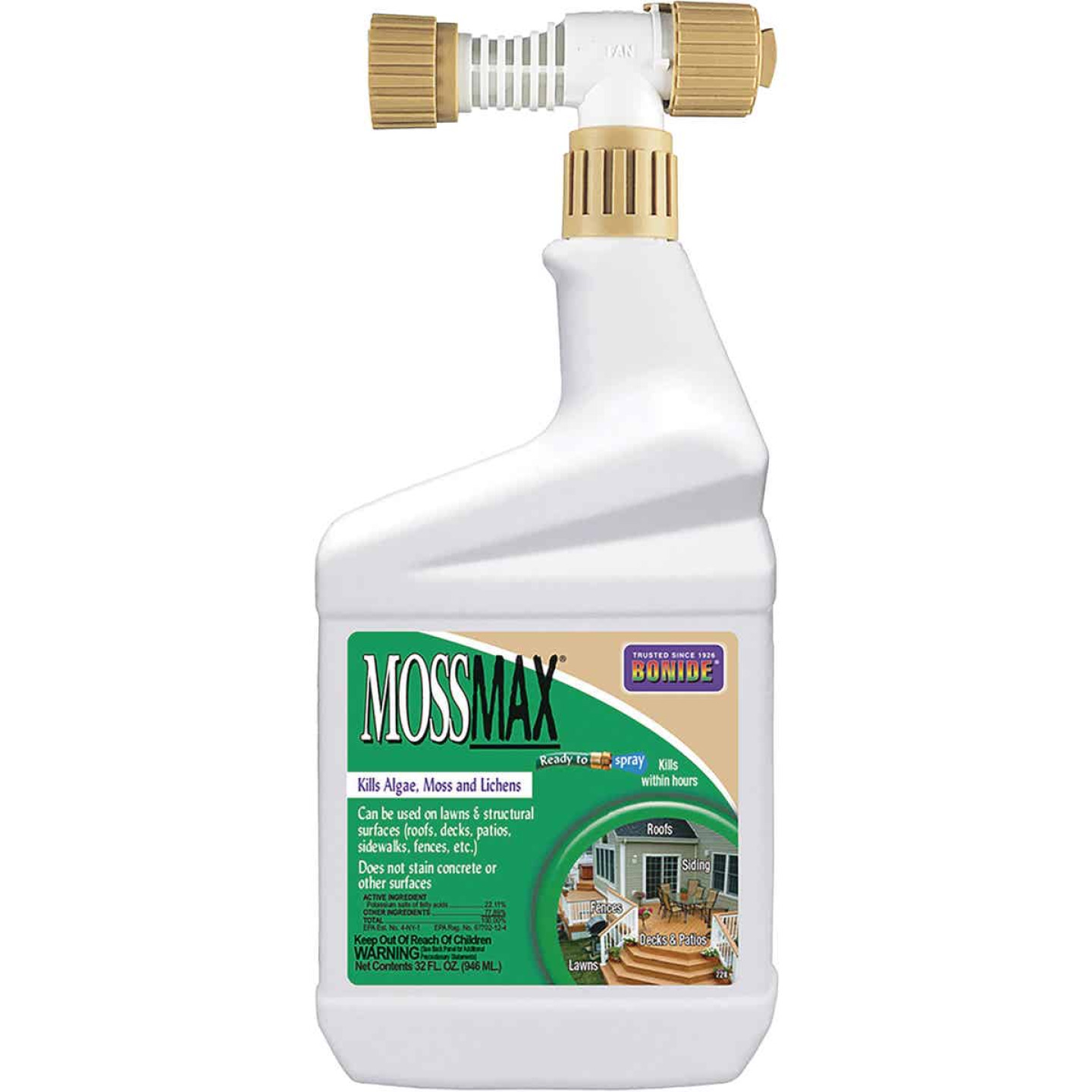 Bonide Mossmax 32 Oz. Ready To Spray Moss & Algae Killer Image 1