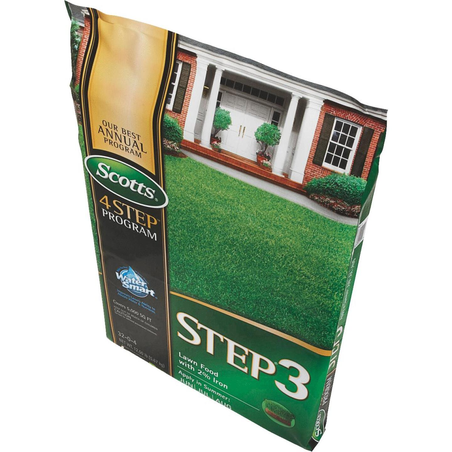 Scotts 4-Step Program Step 3 12.60 Lb. 5000 Sq. Ft. 32-0-4 Lawn Fertilizer with 2% Iron Image 3