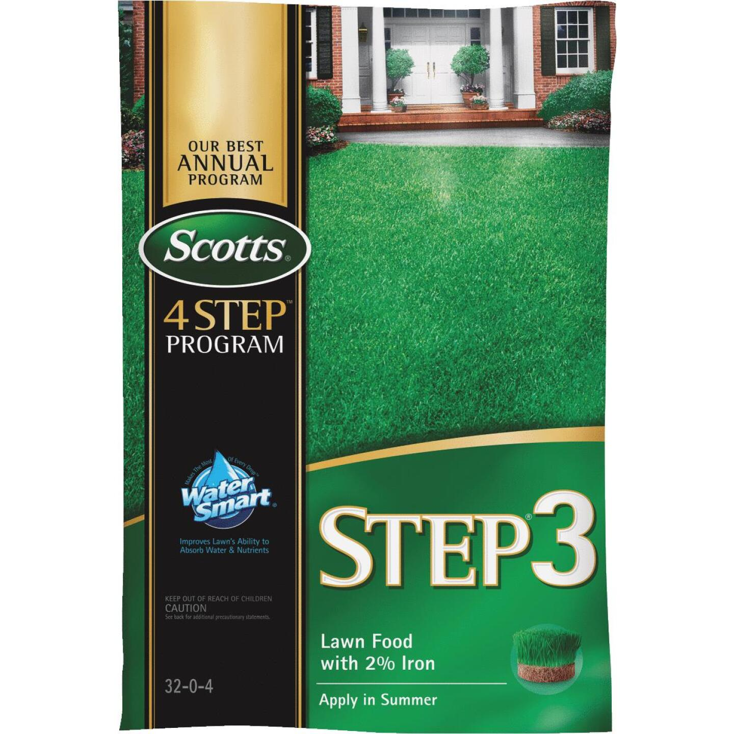 Scotts 4-Step Program Step 3 12.60 Lb. 5000 Sq. Ft. 32-0-4 Lawn Fertilizer with 2% Iron Image 1