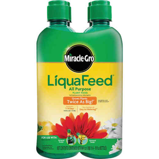 Miracle-Gro LiquaFeed 16 Oz. Ea. 12-4-8 Ready To Use Liquid Plant Food (4-Pack)
