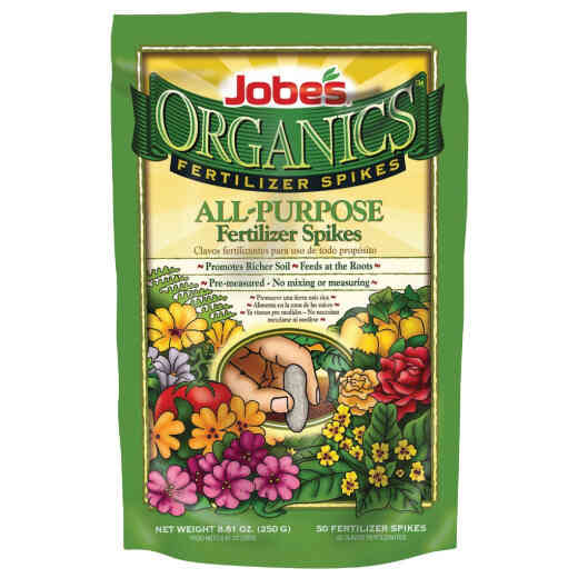 Jobe's Organic 4-4-4 All-Purpose Fertilizer Spikes (50-Pack)