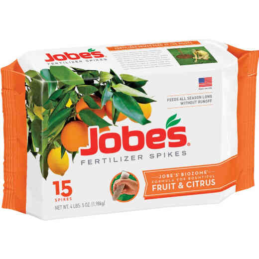 Jobe's 9-12-12 Fruit & Citrus Tree Fertilizer Spikes (15-Pack)