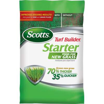 Scotts Turf Builder 42 Lb. 14,000 Sq. Ft. 24-25-4 Starter Fertilizer For New Lawns