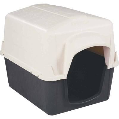 Petmate PetBarn III Almond & Cocoa Medium Dog House For 25 to 50 Lb. Dogs